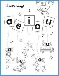 The Vowel Song Worksheet