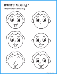 What's Missing? Face Worksheet