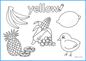 Yellow Coloring Worksheet
