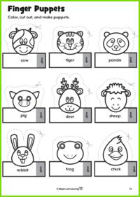 animal-finger-puppets Animal Learning Worksheet on animal learning games, autism worksheets, emotion worksheets, behavior worksheets, memory worksheets, animal learning clip art, visual perception worksheets, reading worksheets, language worksheets, aggression worksheets, animal learning cards, animal learning english, cognitive worksheets,