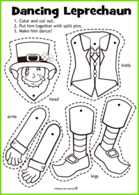 Dancing Leprechaun Craft