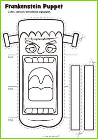 Frankenstein Puppet Craft