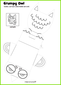 Grumpy Owl Craft