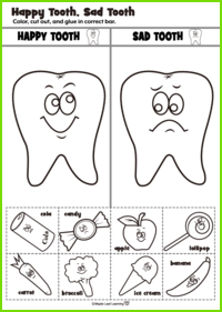 Happy Tooth/Sad Tooth Activity