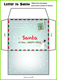 Letter to Santa Activity