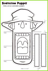 Scarecrow Puppet Craft