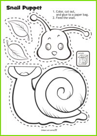 Snail Puppet Activity