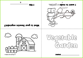 Vegetable Garden Mini-Book