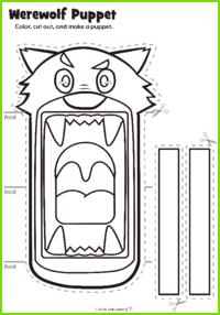 Werewolf Puppet Craft