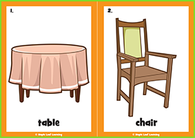 Dining Room Flashcards
