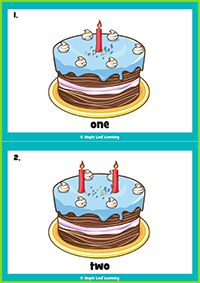 Happy Birthday Song Flashcards