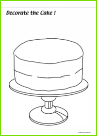 Decorate the Cake Worksheet