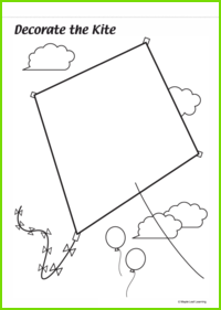 Decorate the Kite Worksheet