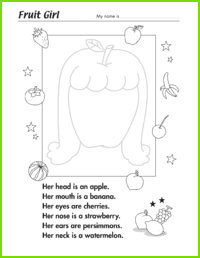 Fruit Girl Worksheet