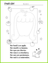 Fruit Girl Worksheet