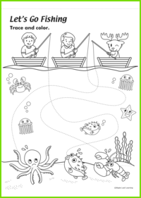 Let's Go Fishing Worksheet
