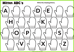 Mitten ABC's Worksheet